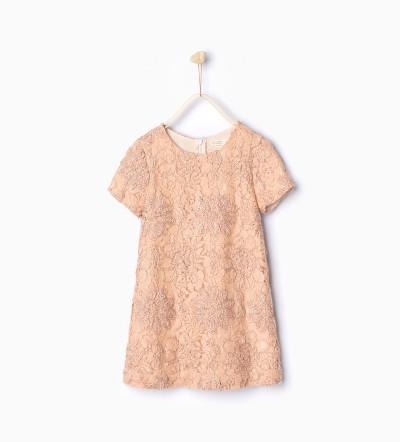 flower embroidered dress, zara