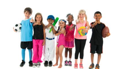Portrait of diverse sport kids