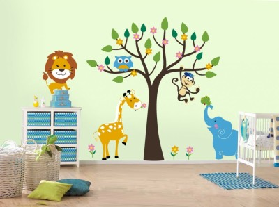 african-wild-life-kids-room-wall-sticker-ideas