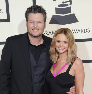 The 57th Annual Grammy Awards arrivalsFeaturing: Miranda Lamber, Blake SheltonWhere: Los Angeles, California, United StatesWhen: 09 Feb 2015Credit: Apega/WENN.com