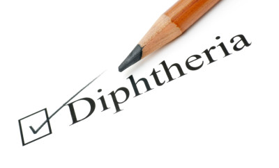 diphtheria health care check list on white background