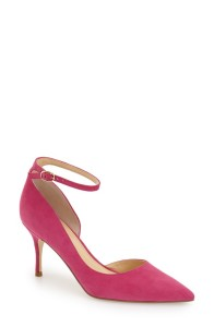 Ivanka Trump Brita Ankle Strap Pointy-Toe Pumps