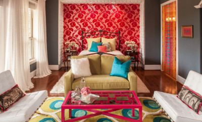 retro-bedroom-red-pink-wallpaper-better-decorating-bible-blog-fuzzy-pillows-fads-furniture