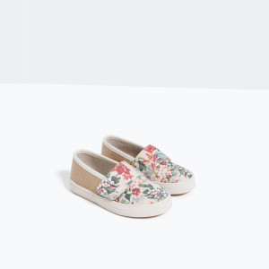 FLORAL PRINT PLIMSOLLS WITH HOOK AND LOOP FASTENING zara