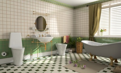 modern bathroom interior (3d rendering)
