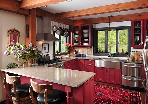 kabinet-dapur-merah