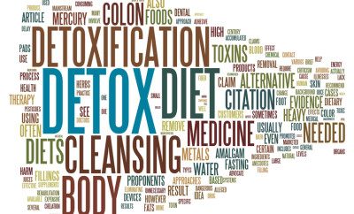 Detox and loosing weight related concepts in word tag cloud isolated on white background