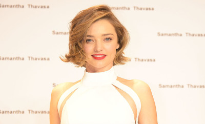 TOKYO, JAPAN - MARCH 16:  Miranda Kerr attends the press conference for new Samantha Thavasa handbags collection Tv commercial at Gates Store on March 16, 2016 in Tokyo, Japan.  (Photo by Jun Sato/WireImage)