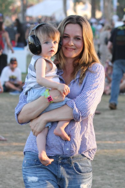 Alicia Silverstone Shows off son Blue at Coachella