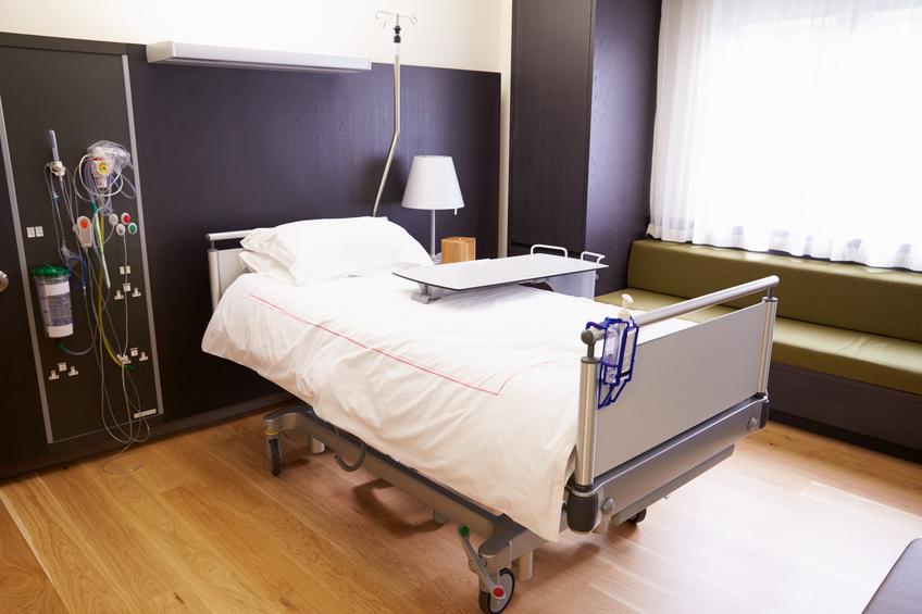 Empty Patient Room In Modern Hospital