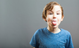 Little Boy Expressions - Sticking out Tongue