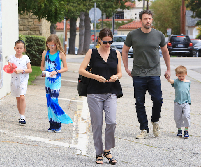 Ben Affleck and Jennifer Garner enjoy family time once again
