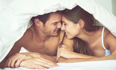Shot of a loving young couple under their duvet in the bedroomhttp://195.154.178.81/DATA/i_collage/pi/shoots/783281.jpg