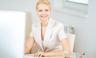 Portrait of a beautiful businesswoman.