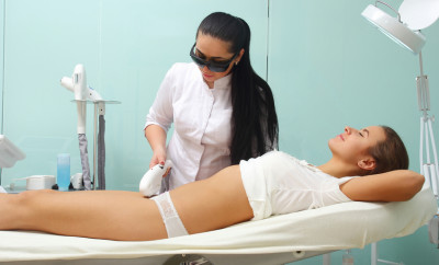 Laser hair removal on ladies body