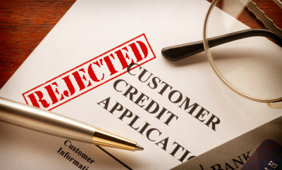 A consumer credit application that has been rejected.