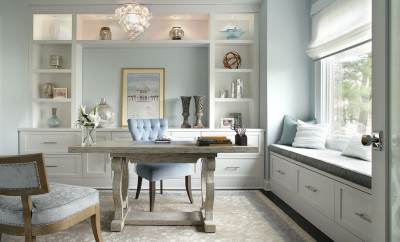 Rug-under-desk-home-office-transitional-with-pastel-blue-walls-nailhead-trim-8