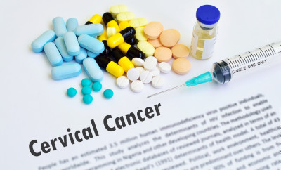 Drugs and syringe for cervical cancer treatment