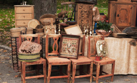 """""""Old Norwegian furniture. This  outdoor market is open every Saturdayt, and   is located only a few minutes away from from Gustav Vigeland park."""""""