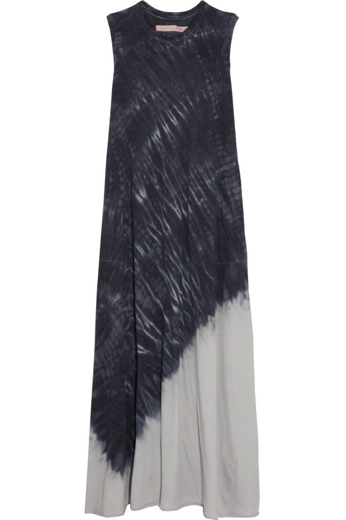 Tie-dyed cotton-blend jersey maxi dress, Raquel Allegra - Net a Porter
