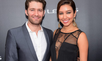 "NEW YORK, NY - AUGUST 06:  Actor Matthew Morrison of Glee and Renee Puente attend the The 2nd Annual Lexus Short Films ""Life is Amazing"" New York premiere presented by The Weinstein Company and Lexus at SVA Theater on August 6, 2014 in New York City.  (Photo by Michael Loccisano/Getty Images for The Weinstein Company)"