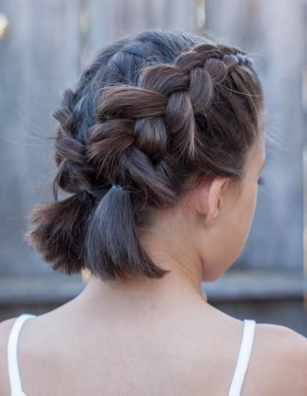 Pilihan Gaya Rambut Untuk Si Kecil Ke Sekolah Smartmama - Gaya rambut pendek kepang