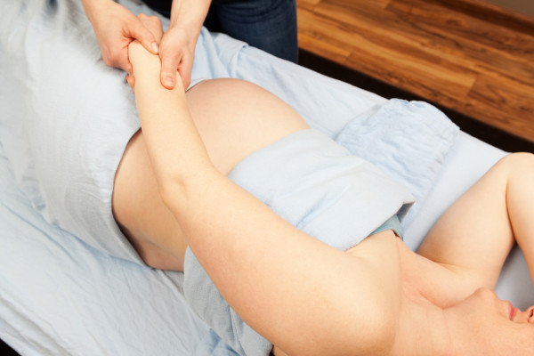 Pregnant Woman Prenatal Hand Massage