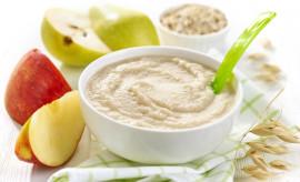 bowl of baby food, healthy breakfast porridge