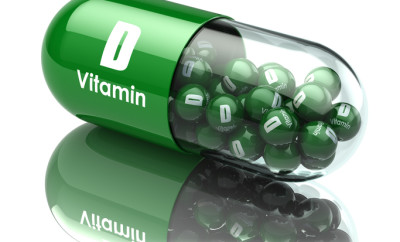 Vitamin D capsule or pill. Dietary supplements. 3d illustration