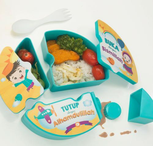 Salah satu produk perlengkapan makanan bagi Si Kecil yang diproduksi oleh Dusdusan