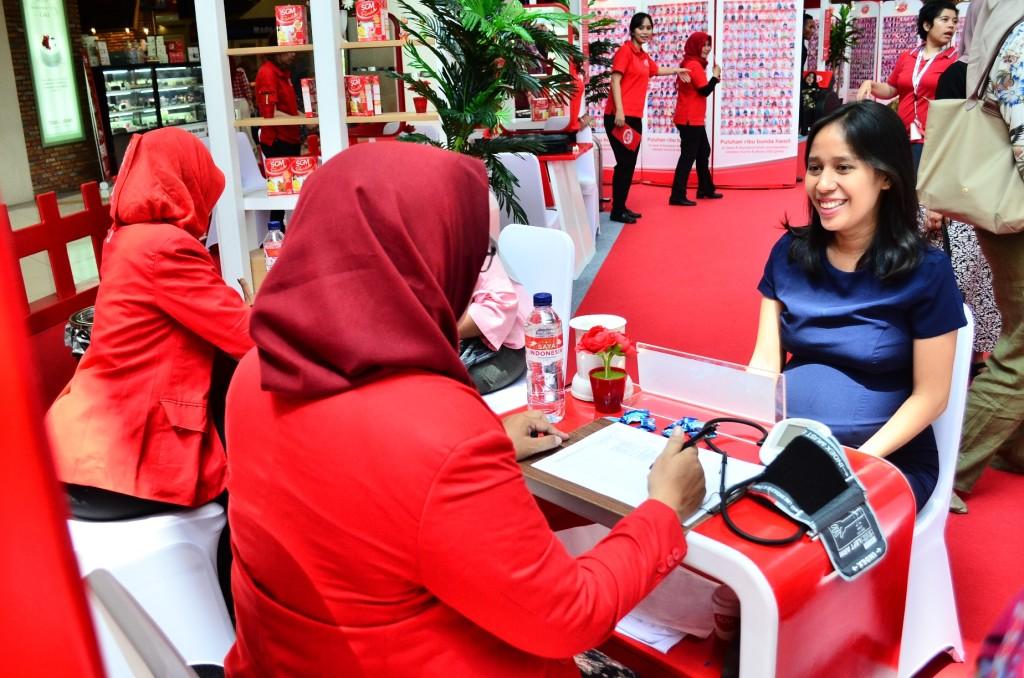 Konsultasi gizi gratis dapat dinikmati calon mama selama acara Festival Ngidam SGM Bunda berlangsung.
