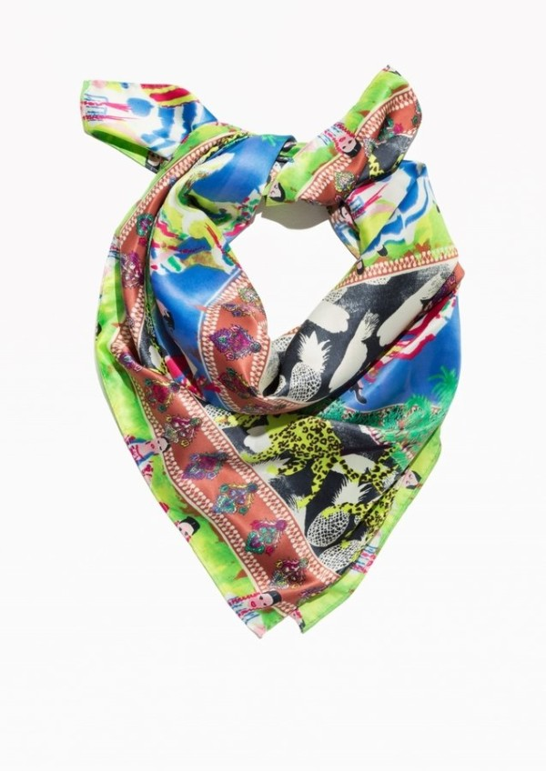 Summer Fiesta-Print Scarf, & Other Stories