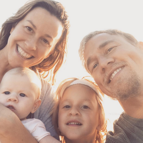 Alanis Morisette & family