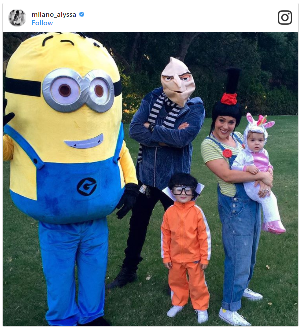 Alyssa Milano and Her Family as Despicable Me Characters