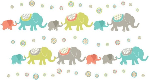 Tag Along Elephants Wall Art Decal, JC Penney.