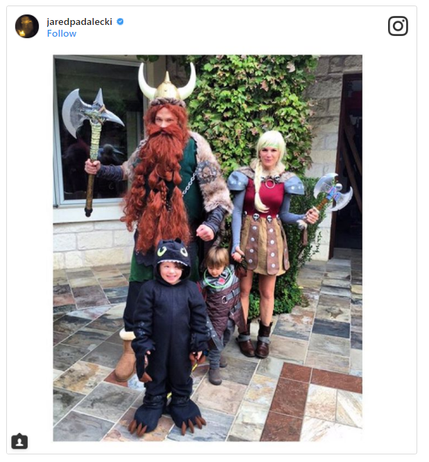 Jared Padalecki and His Family as How to Train Your Dragon