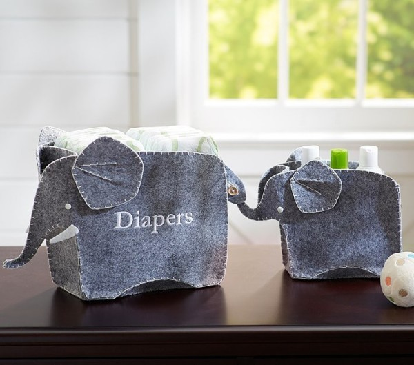 Elephant Changing Table Storage Set, Pottery Barn Kids.