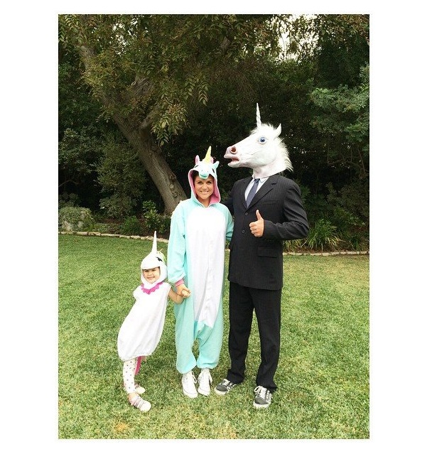 Tiffani Thiessen and Her Family as Unicorns
