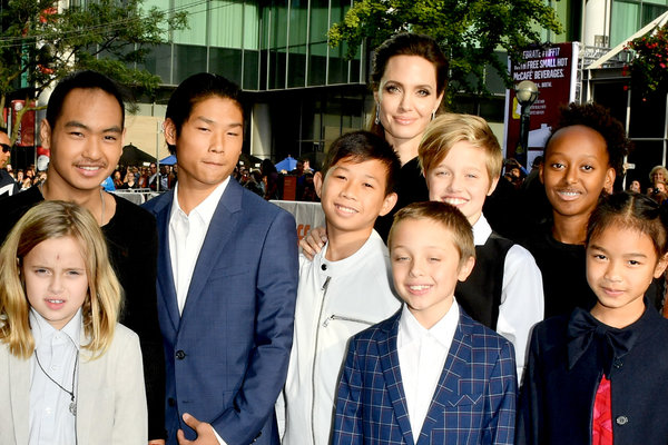 jolie and kids