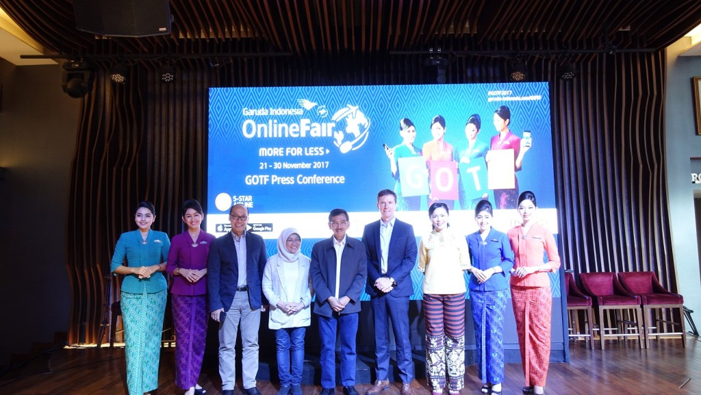 Press Conference Garuda Indonesia Online Travel Fair.