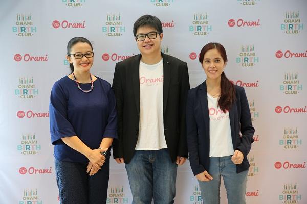 Vera Itabiliana, Ferry Tenka, Wiliyanti Sung saat peluncuran #OramiBirthClub.