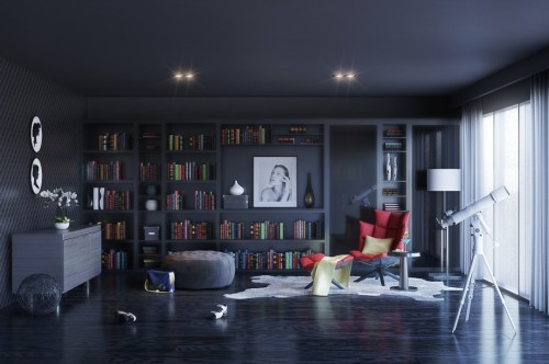 1-slate-gray-library-reading-room