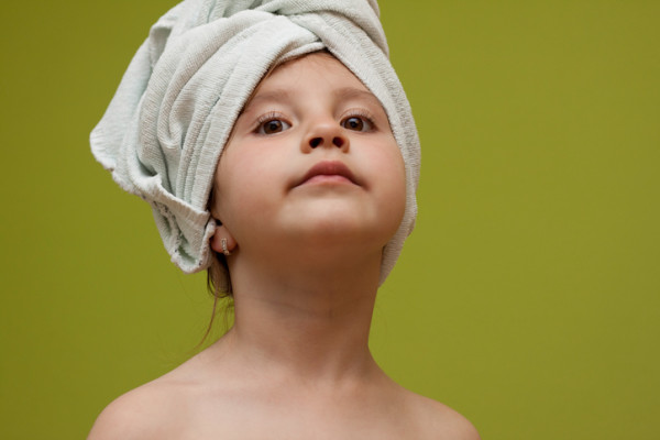 Child right after bath
