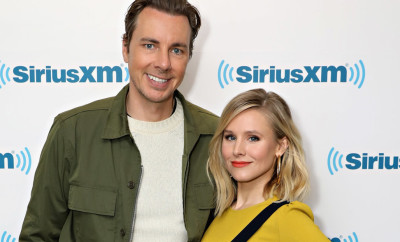 NEW YORK, NY - MARCH 22:  Actors Dax Shepard and Kristen Bell visit the SiriusXM Studios on March 22, 2017 in New York City.  (Photo by Cindy Ord/Getty Images)