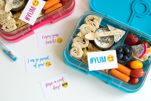 Back to School with YumBox + Free Emoji School Lunch Notes