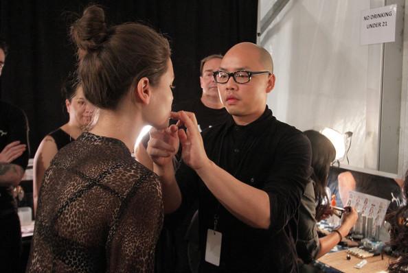 Daniel Martin saat menjadi lead make up artist pada campaign NYX Cosmetics