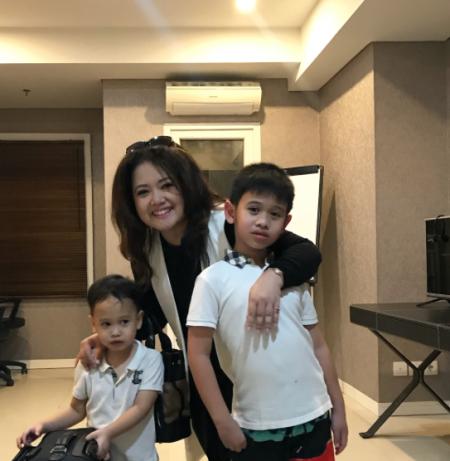 Roslina Verauli & kids