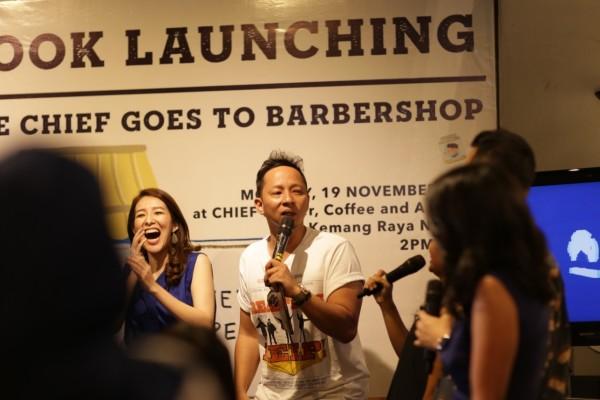 """Ringgo saat ditemui dalam acara Launching Buku anak """"Little Chief Goes to Barbershop"""" (Senin/19/11/2018)"""