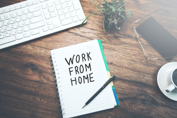 notebook  written work from home text