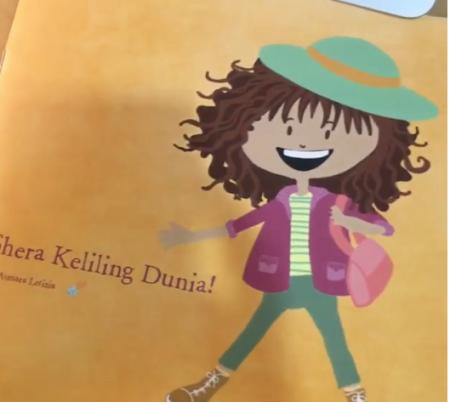 Buku karya Asmara untuk ulang tahun Shera ke - 6.